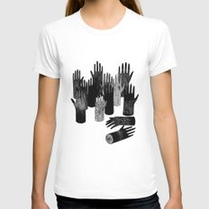The Forest of Hands MEDIUM White Womens Fitted Tee