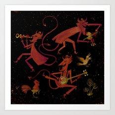 Devil's Dancing Art Print