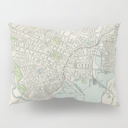 Vintage Map of New Haven Connecticut (1901) Pillow Sham