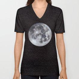 Full Moon Watercolour Unisex V-Neck