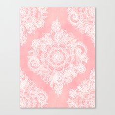 Marshmallow Lace Canvas Print