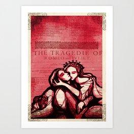 Romeo & Juliet - Shakespeare Folio Illustration Art Art Print