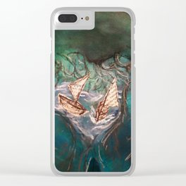 Little Boats2 Clear iPhone Case