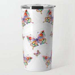 Butterflies abstract print Travel Mug