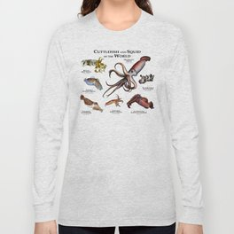 Cuttlefish and Squid of the World Long Sleeve T-shirt