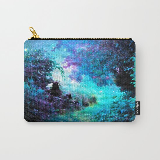 Fantasy Garden Path Turquoise Purple Carry-All Pouch
