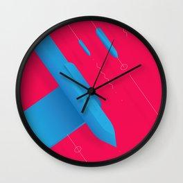 Geometric composition 7 Wall Clock