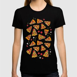 Funny pizza pattern T-shirt