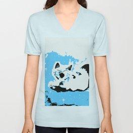Mono Cat Unisex V-Neck