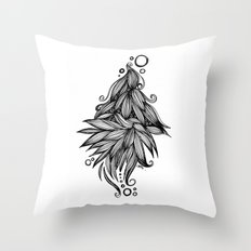 Ornate tangle wave form Throw Pillow