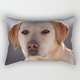 Portrait of A Golden Labrador Retriever Rectangular Pillow