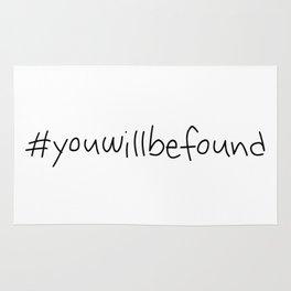 #youwillbefound Rug