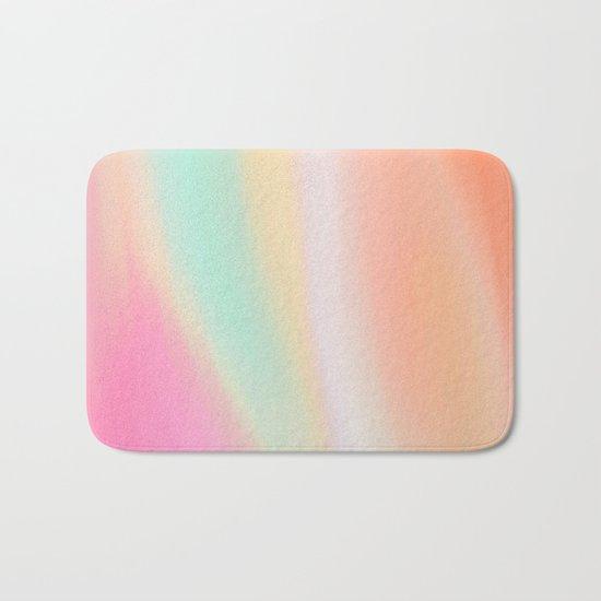 Digital painted texture illustration, pastel soft colors Bath Mat