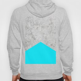 Geometric Concrete Arrow Design - Neon Blue #504 Hoody