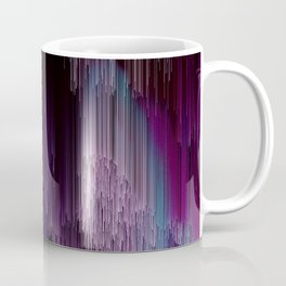 Darkness Glitches Out - Abstract Pixel Art Coffee Mug