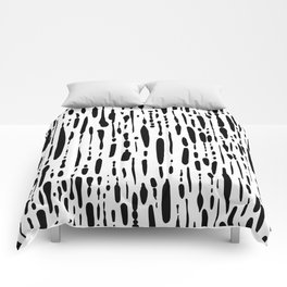 Ice Melt Black and White Comforters