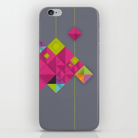 Optical illusion_grey iPhone & iPod Skin