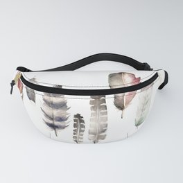 Watercolor feathers Fanny Pack