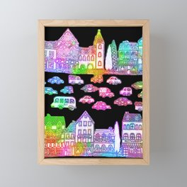 Colorful Town Framed Mini Art Print