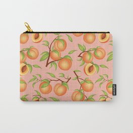 Practice What You Peach - Peaches on Pink Carry-All Pouch