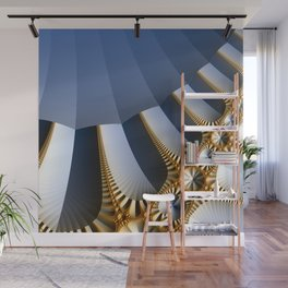Pleated abstract with gold and jewels Wall Mural