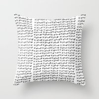 hiphop Throw Pillows featuring HipHop  by Geryes