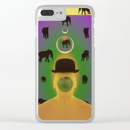 ODE TO MAGRITTE Clear iPhone Case