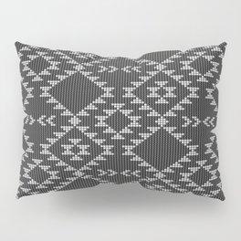 Southwestern textured navajo pattern in black & white Pillow Sham