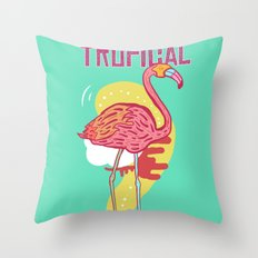 Avalanche Tropical Throw Pillow