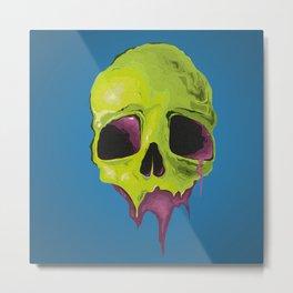Cartoon skull Metal Print