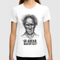 clint eastwood T-shirts featuring CLINT EASTWOOD  by Ani Dvaladze