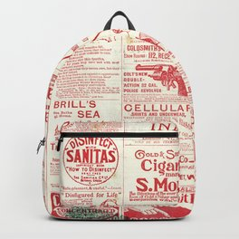 The old newspaper, vintage design illustration Backpack