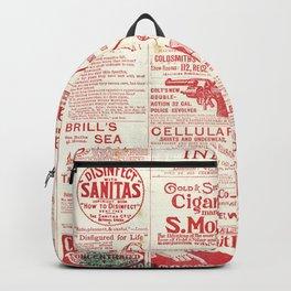 The old newspaper, vintage design illustration Backpack
