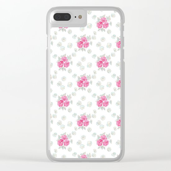 Watercolor. Rose .10 Clear iPhone Case