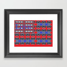 Love flag Framed Art Print