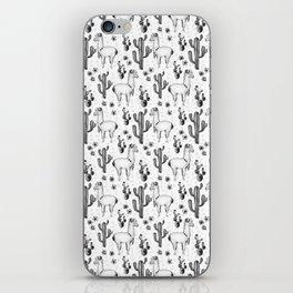 Llama Llamarama + Cactus Pattern iPhone Skin