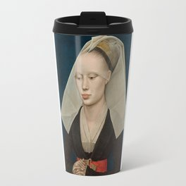 Portrait of a Lady by Rogier van der Weyden Travel Mug