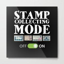Stamp Collecting Mode Metal Print