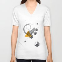 psychology V-neck T-shirts featuring Archetypes Series: Elusiveness by Attitude Creative