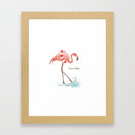 Flamingo - Hello Summer Framed Art Print