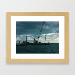 Bimini Barge Framed Art Print