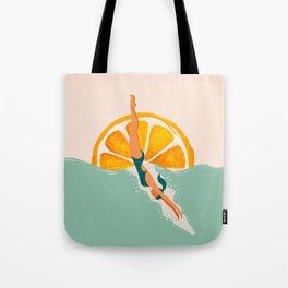Girl Dive Tote Bag