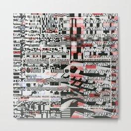 Click-N-Fail (P/D3 Glitch Collage Studies) Metal Print