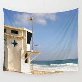 Laguna Beach Lifeguard Tower Wall Tapestry