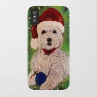 westie iPhone & iPod Cases featuring A Very Westie Christmas by Heidi Clifton