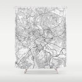 Leeds Map Line Shower Curtain