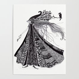 Wood Fairy Warrior Poster