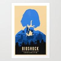 bioshock infinite Art Prints featuring Bioshock Infinite Elizabeth by Bill Pyle