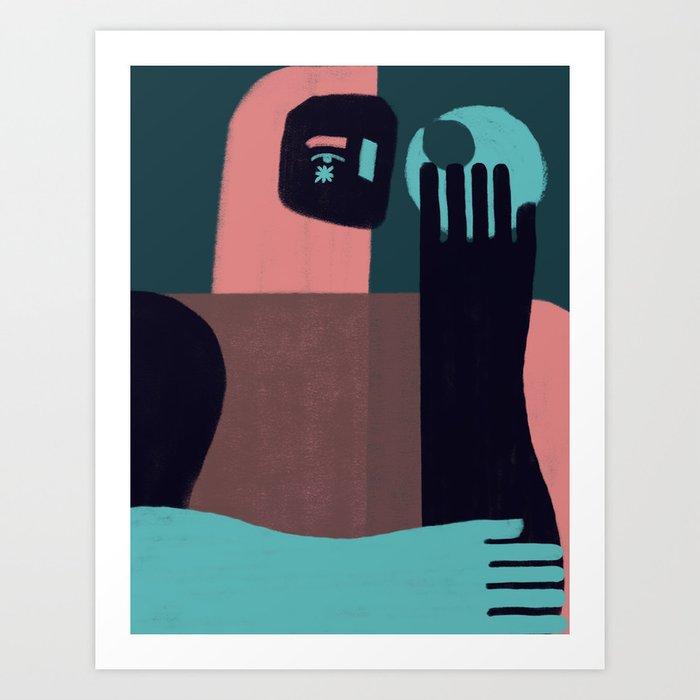 Dios Luna Art Print
