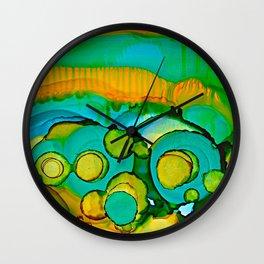 Flower Fields Wall Clock